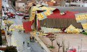 Afectació per vent de la coberta del pavelló esportiu municipal, Cervera