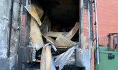 Recuperació de nau sinistrada per incendi. Comercial Noble, Ripollet