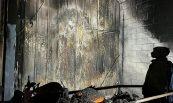 Recuperació de nau sinistrada per incendi. Motos Tibau, Lloret de Mar