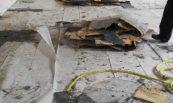 Recuperació de nau sinistrada per incendi. Polyarmados, S.A., Lleida