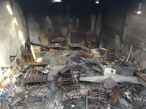 Recuperació de nau sinistrada per incendi. Roux Residencial, S.L., Barcelona