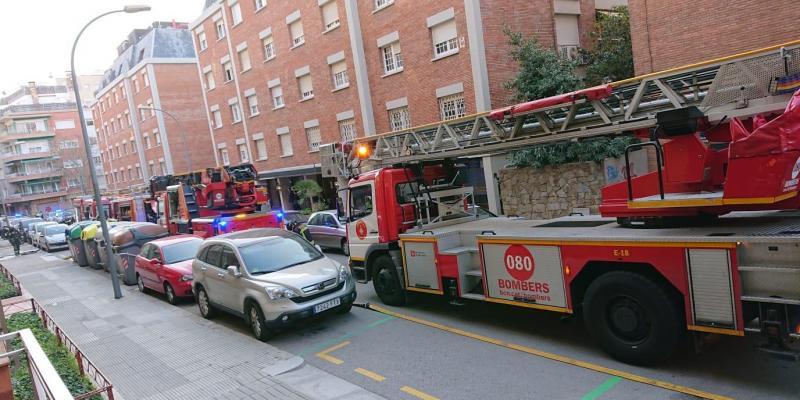 Incendi en un bloc de pisos de Sant Gervasi