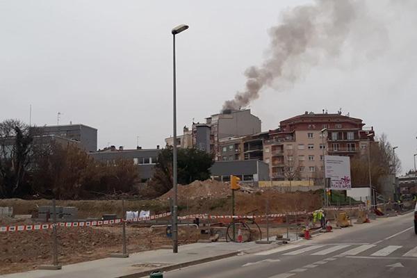 Incendi en un edifici de Manresa