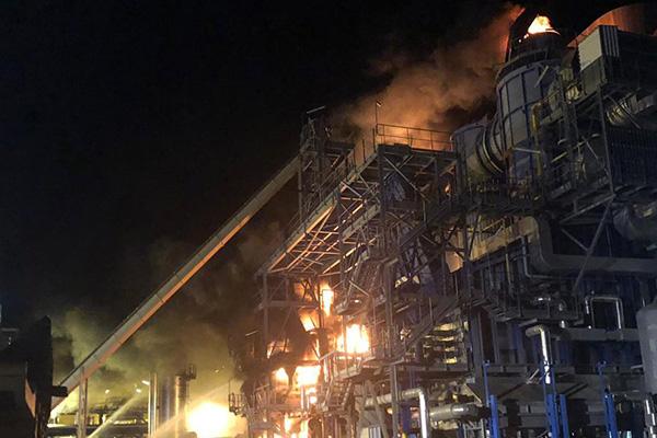 Incendi a una planta solar termoelèctrica