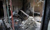 Recuperació de nau sinistrada per incendi, Bombers Bellaterra